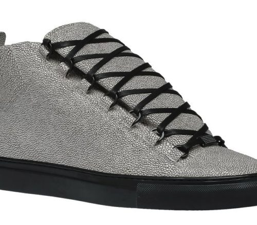 Balenciaga Galuchat Printed High Sneakers Cendre