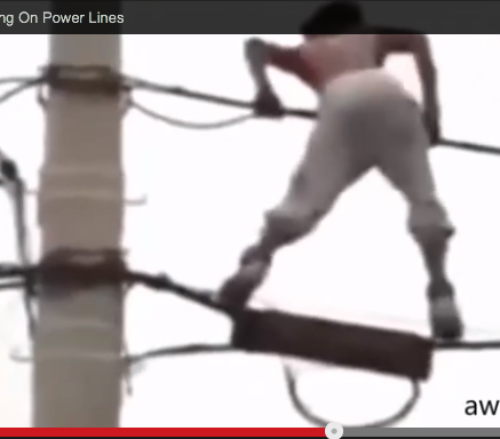 Man Electrocuted Twerking On Power Lines