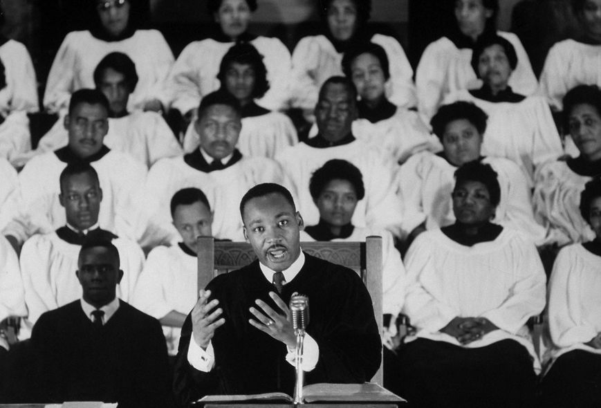 Martin Luther King Jr. Preaching