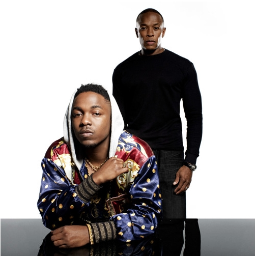 Compton rappers Dr. Dre and Kendrick Lamar