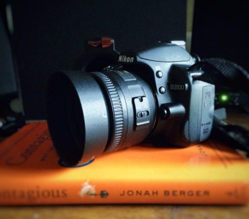 Nikon D3100 and Contagious by Jonah Berger
