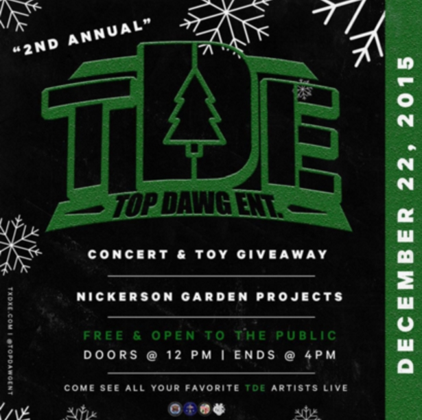 TDE Free Holiday Concert 2016 flyer
