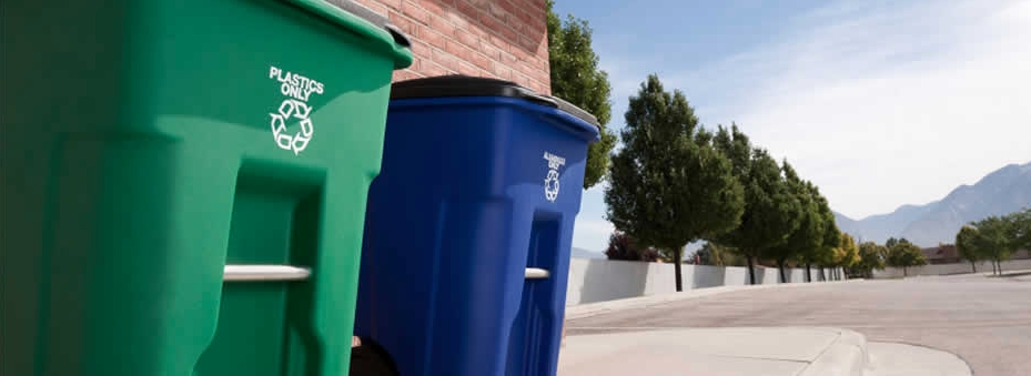 Recycling bins Bule and Green