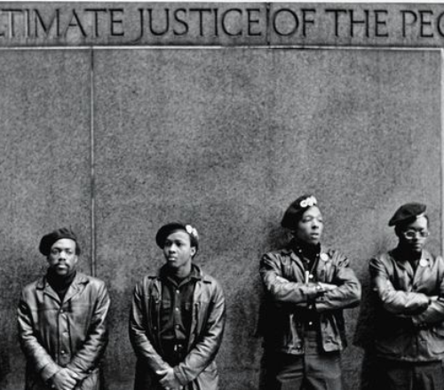 Black Panther Party black and white throwback picture