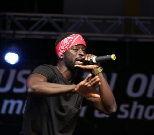 Los Angeles based rapper, Tamba Tongu performing